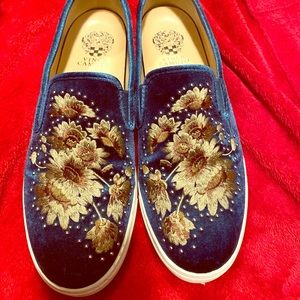 Peacock Velvet Brandia Slip-On Shoes